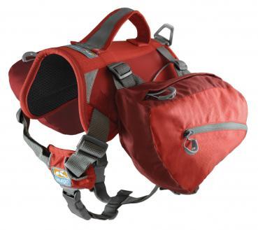 Kurgo - Baxter Backpack -  Chili/Barn Red (14-38 kg)